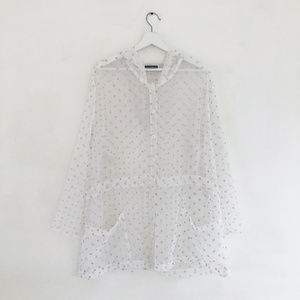 vintage 90s contempo casuals sheer polkadot jacket
